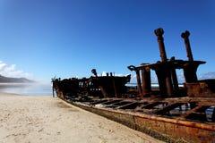 Fraser Island - Australia. The Maheno wreck on Fraser Island, the world largest sand island (Australia Royalty Free Stock Photo