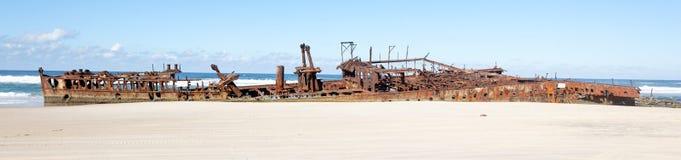 Fraser Island - Australia. The Maheno wreck on Fraser Island, the world largest sand island (Australia Stock Image