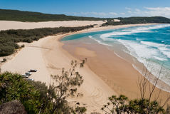 Fraser Island beach landscape Stock Photography