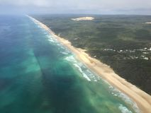 Fraser Island Coast royalty-vrije stock foto