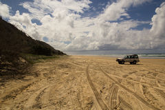 Fraser Island Four Wheel Drive Stock Photo