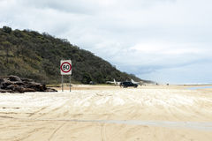 Fraser Island runway Royalty Free Stock Image