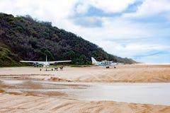 Fraser Island runway at beach Royalty Free Stock Photo