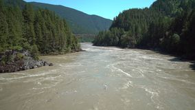 Fraser River ad alta marea 4K UHD video d archivio