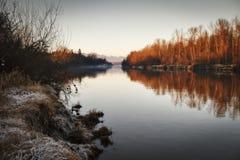 Fraser River av Langley British Columbia Canada Arkivbild