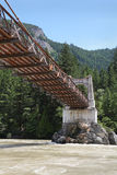 Fraser River Crossing, Alexandra Bridge histórica Foto de archivo libre de regalías
