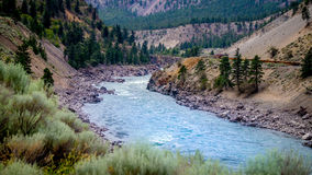 Fraser River em Fraser Canyon Fotos de Stock Royalty Free