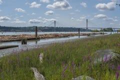 Fraser River en Vancouver, Canadá foto de archivo libre de regalías