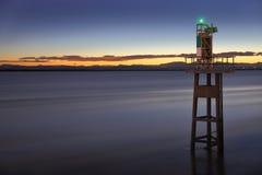 Fraser River, Georgia Strait, Twilight Stock Photography