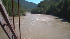 Fraser River from the Historic Alexandra Bridge 4K UHD stock video footage