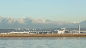 Fraser River, Jet Take Off, Vancouver Airport Royalty Free Stock Images