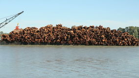 Fraser River Log Barge Close Up Royalty Free Stock Images