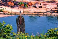 Fraser River Logging fotos de stock royalty free
