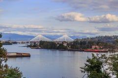 Fraser River-mening in een middag royalty-vrije stock afbeelding
