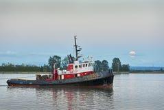 Fraser River Moonrise stock foto's