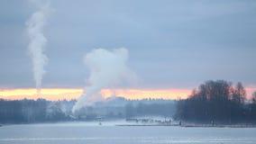 Fraser River Morning Mist Stock Images