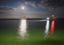 Fraser River Night Shift Fotografia Stock