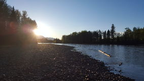 Fraser River. This picture was taken beside the Fraser River near McBride, British Columbia. It features a beautiful sunset overlooking the river royalty free stock image