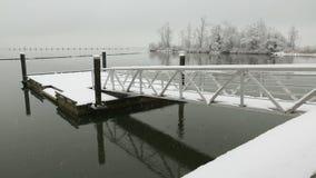 Fraser River Pier Float vinter, Richmond arkivfilmer