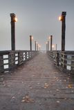 Fraser River Pier, Fog Royalty Free Stock Image