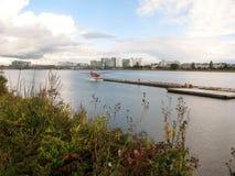 Fraser River a Richmond, BC, il Canada fotografia stock libera da diritti