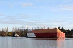 Fraser River Sawdust Barge Stock Photos