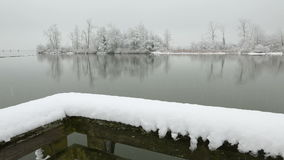 Fraser River Snow, Richmond, BC stock footage