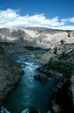Fraser river in spring. Canyon of the fraser river in spring time Stock Photo