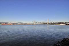 Fraser River in Sunny Winter Afternoon Royalty Free Stock Photos