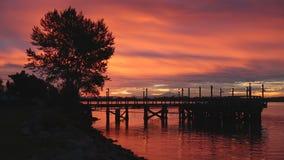 Fraser River Sunrise stock video