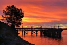 Fraser River Sunrise. Royalty Free Stock Images