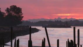 Fraser River Sunrise 4K UHD stock video footage
