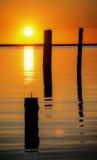 Fraser river sunset Royalty Free Stock Photos