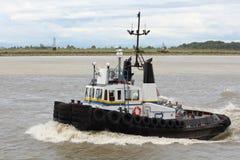 Fraser River Tugboat, British Columbia Stock Photo