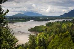 Fraser River Valley Fotografia Stock Libera da Diritti
