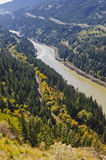 Fraser River valley Royalty Free Stock Photos