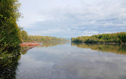 Fraser River van Canada Stock Foto's