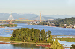Fraser River view Royalty Free Stock Photos