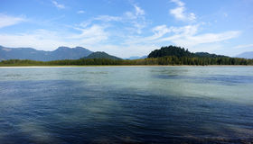 Fraser River. A view of the Fraser River in Chilliwack, BC in the summer Stock Photography