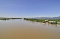 Fraser River view in springtime Stock Photography