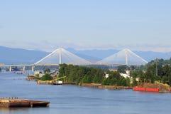 Fraser River in zomer royalty-vrije stock foto's