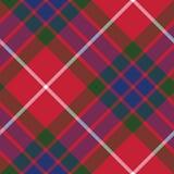 Fraser tartan fabric texture seamless pattern diagonal Royalty Free Stock Photography