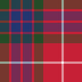 Fraser tartan seamless pattern fabric texture Royalty Free Stock Images