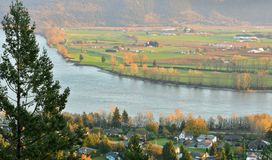 Fraser Valley Autumn-zonsondergang Stock Foto