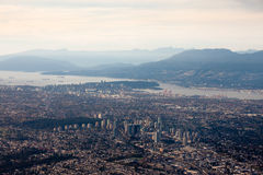 Fraser Valley Lower Mainland Vancouver city aerial Stock Photography