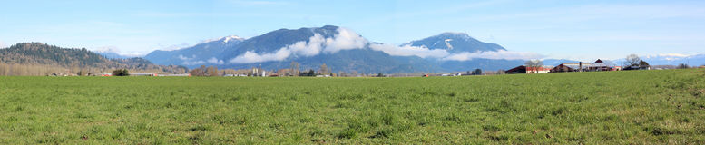 Fraser Valley Panorama Royalty Free Stock Photos