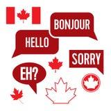 Frases canadienses Imagen de archivo