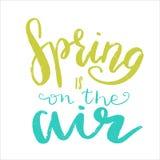Frases de las letras de la primavera Imagenes de archivo