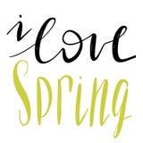 Frases de las letras de la primavera Imágenes de archivo libres de regalías
