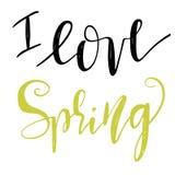 Frases de las letras de la primavera Imagen de archivo